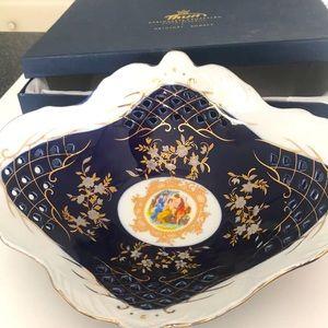 Chech republic original cobalt  dish